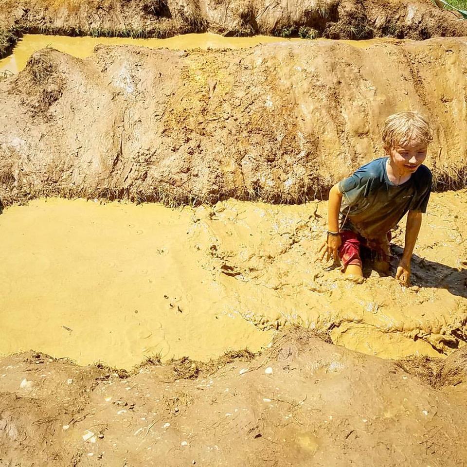 Lucas in the mud