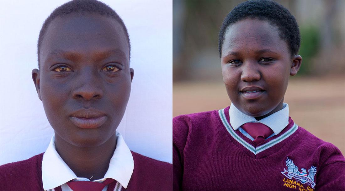 Tracey Wamboi and Tegla Chepchumba