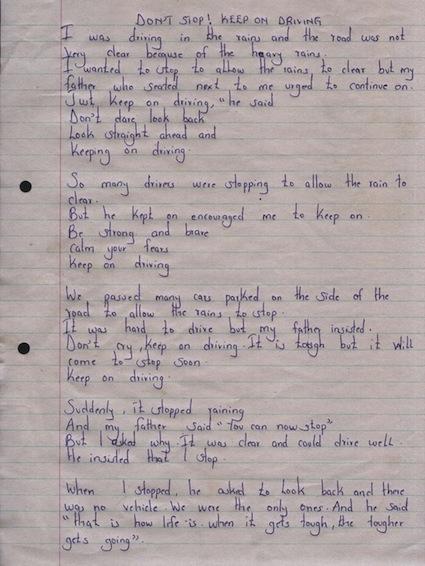 hurriet neema poem keep on driving brady family lenana 2013