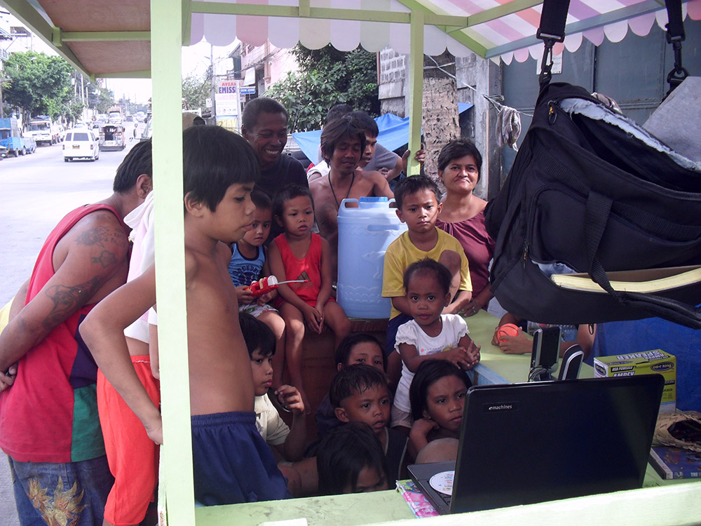 School in a cart children