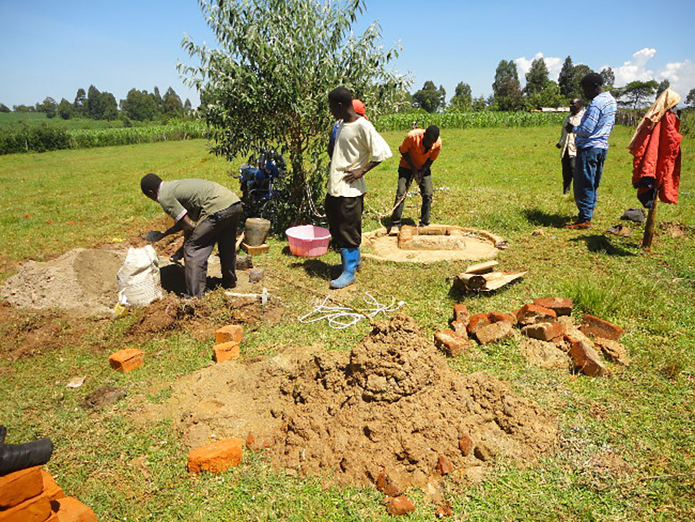 results building water well - lenana girls school - Lift the Lid